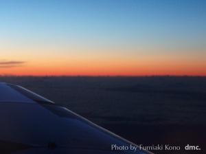 夕闇 プロペラ機