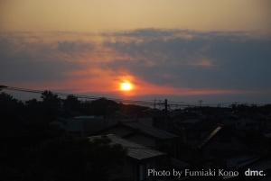 夕陽 小倉