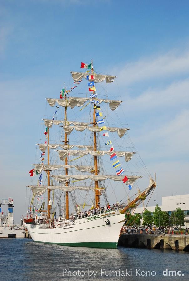 帆船クアウテモック(CUAUHTEMOC)