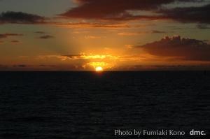 夕陽 ハワイ