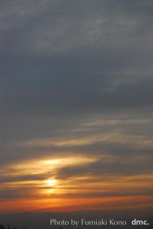 夕陽 オレンジ