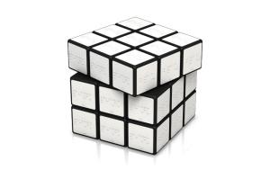 白いルービックキューブ