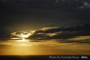 淡路島の夕陽