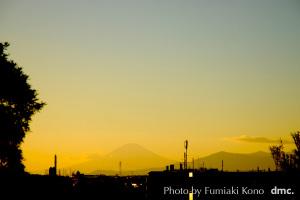 元旦の夕陽