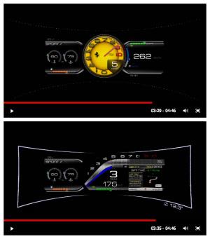 ラフェラーリのインストゥルメントパネル
